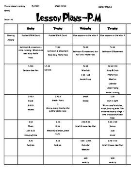 Letter P Week Lesson Plan