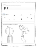 "Letter ""P"" Worksheet"