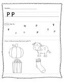 """Letter """"P"""" Worksheet"""