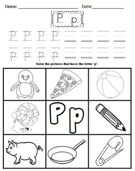 Letter P Worksheets!