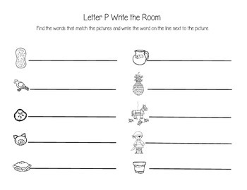 Letter P Write the Room