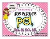Letter P and Syllables- Spanish