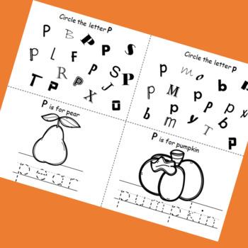 Letter P booklet