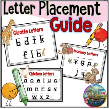 letter placement guide by esl classroom teachers pay teachers