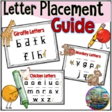 Letter Placement Guide : Chicken, Monkey, and Giraffe Letters