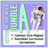 Letter of the Week Bundle: A, S, N, I, T (Literacy, Math, Science & Humanities)