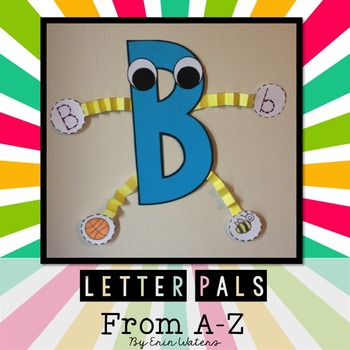 Letter Pals from A-Z {Back to School Alphabet Buddies}