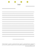Letter Paper - Includes Checklist with all Components of Friendly Letter