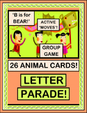 """Letter Parade!"" - Letter Sounds with Animal Moves!"