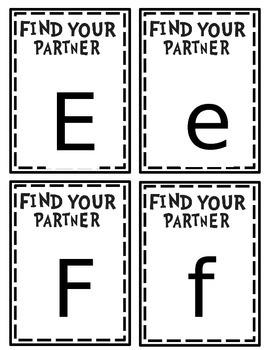 Letter Partner Picking Cards