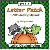 Letter Patch (4 Fall Pumpkin Letter Discrimination Activities)