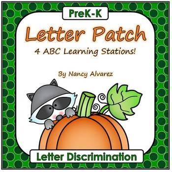 Letter Patch (4 Fall Pumpkin Letter Discrimination Activities)