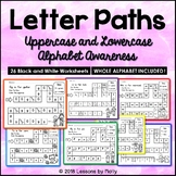 Letter Paths Uppercase and Lowercase Alphabet Awareness (S