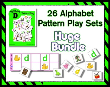 Letter Pattern Play Game Bundle for the Entire Alphabet ~ 26 Sets Reading Center