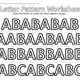 Letter Pattern Worksheet