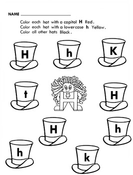 Letter People Find Letter and Color 26 Worksheets