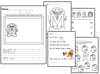 Letter People Worksheets Vol. 2 - Writing Practice Handouts (150 pgs)