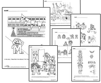 Letter People Vol 3 Worksheets - Alpha Time Workbook Handouts