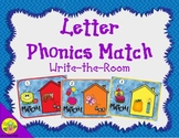 Letter Phonics / Beginning Sounds Match: Write the Room