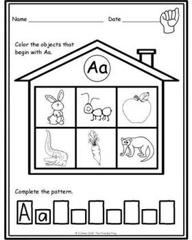 Letter Phonics / Beginning Sounds Sorts: Coloring Pages