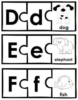 Letter-Picture Alphabet Puzzles: Tactile-Visual Phonics