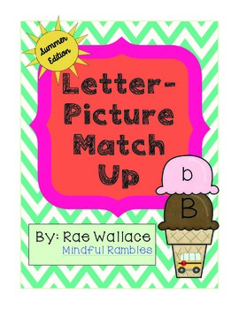Letter-Picture Match Up: Summer Edition