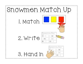 Letter-Picture Match Up: Winter Edition
