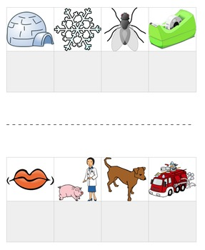 Letter & Picture Matching: Uppercase, Lowercase, Beginning