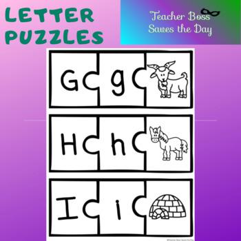 Letter Picture Puzzle (B&W Version)