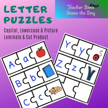 Letter Picture Puzzles (Color Version)