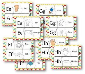 Kindergarten 3pc Word Puzzles 26 Letter Pictures