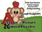 Kindergarten 3pc Word Puzzles 26 Letter Pictures