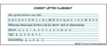 Letter Placement Desk Strip