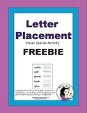 Letter Placement Freebie