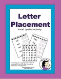 Letter Placement Worksheets