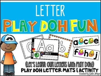 Letter Play Doh Mats & Letter Ordering Activity