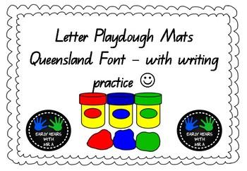 Letter Playdough Mats - QLD Beginners Font