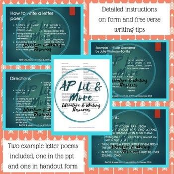 Letter Poem - Creative Writing Lesson
