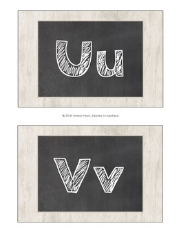 Letter Posters / Word Wall Posters in Chalkboard Theme