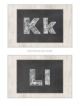 Alphabet Wall Cards / Word Wall Cards in Chalkboard Theme