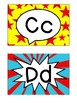 Letter Posters / Word Wall Posters in Comic Book Theme