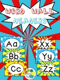 Alphabet Wall Cards / Word Wall Cards in Comic Book Theme