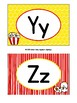 Alphabet Wall Cards / Word Wall Cards in Popcorn Theme