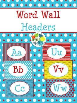Letter Posters / Word Wall Posters in Primary Colors Theme