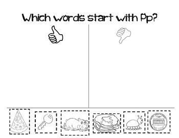 Letter Pp Activity Packet