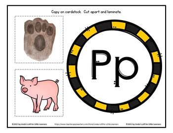 Letter Pp Beginning Sound Picture Web Activity
