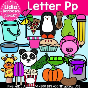 Letter Pp Digital Clipart