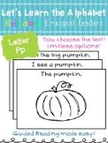 Letter Pp *Editable* Alphabet Emergent Reader