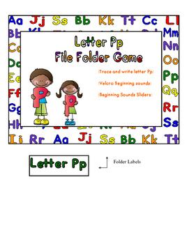 Letter Pp File Folder Game