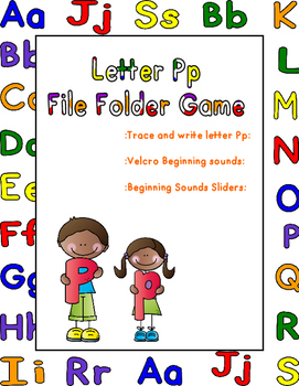 Letter Pp File Folder Game